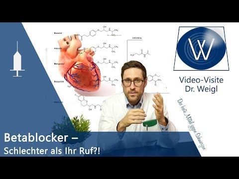 Betablocker - Wirkung & Nebenwirkungen | Blockade der ß-Rezeptoren bei Angst, Migräne, Bluthochdruck